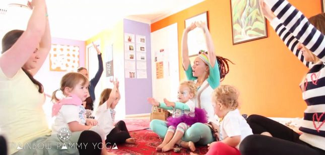 Rainbow Pammy Relaxing Kids With Yoga